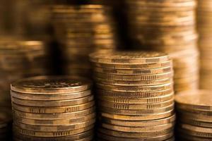 sfondo di monete d'oro foto