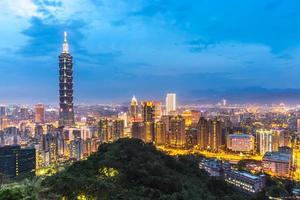 skyline di Taipei foto