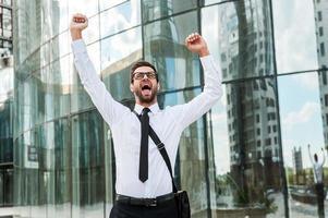 entusiasmo per gli affari. foto