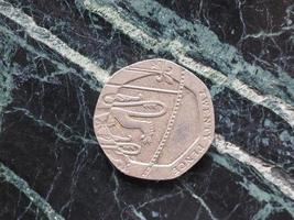 moneta da una sterlina foto