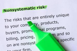 rischio non sistematico foto