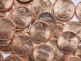 sfondo di monete del dollaro foto