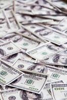 sfondo di banconote foto