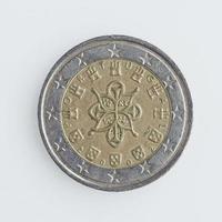 moneta portoghese da 2 euro foto