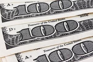 banconote da un dollaro. dettaglio foto
