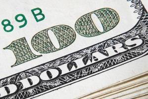 banconota da cento dollari foto