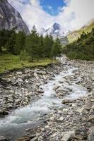 la montagna più alta del Grossglockner in Austria