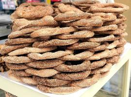 bagel venduti in strada foto