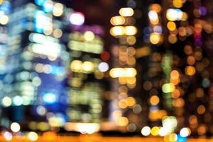 luci circolari astratte sfocato sfondo bokeh. foto
