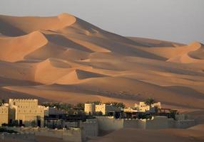 duna di sabbia del deserto foto