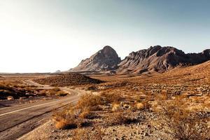 autostrada del deserto del Mojave foto