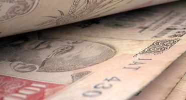 dettaglio separato del primo piano delle banconote foto