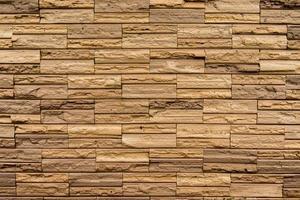 muro di pietra realizzato con blocchi foto