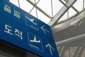 segni del terminal dell'aeroporto foto