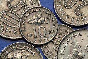 monete della Malesia foto