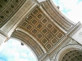 l'arco di trionfo de l'ã ‰ toile, Parigi foto