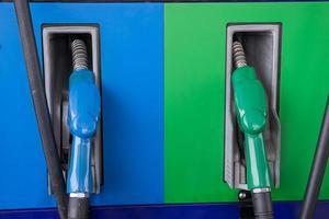 benzina colorata a olio combustibile foto