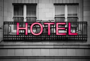 insegna dell'hotel foto