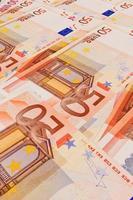 5, 10, 20, 50 banconote in euro foto