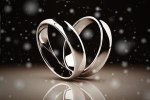 anello di nozze d'oro su sfondo (stile vintage)