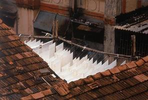 alto angolo di vista su Ghat Dhobi foto