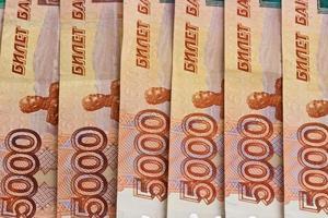 banconote russe. sfondo foto