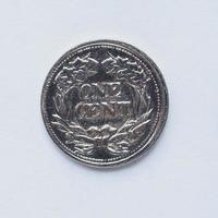 vecchia moneta da 1 centesimo foto