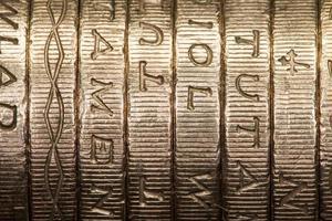 monete da una sterlina britannica foto