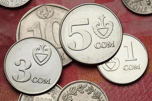 monete del Kirghizistan foto