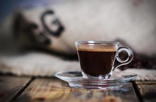 espresso caldo foto