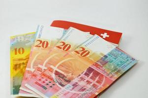 banconota svizzera foto