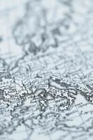 vecchia mappa del mondo, europa