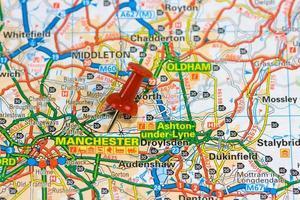 mappa stradale di mamchester foto