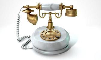 telefono in marmo vintage foto