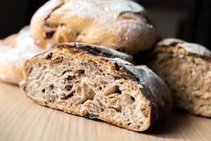 primo piano del pane rustico