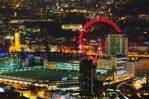 panoramica aerea della città di Londra foto