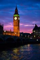 Londra. Torre dell'orologio del Big Ben. foto