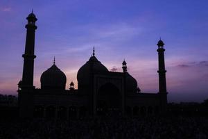 jama masjid, vecchia delhi, india foto