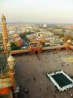 cortile di jama masjid, delhi foto