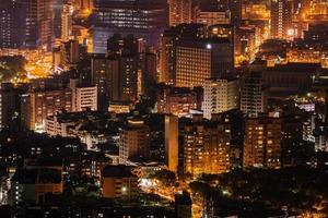 notte della città moderna foto