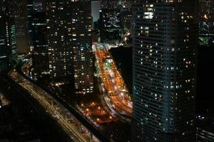 vista notturna di Tokyo foto