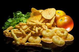 spuntini con patatine fritte