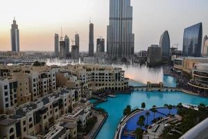 fontana del centro di Dubai