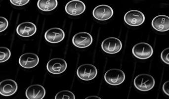 chiavi della macchina da scrivere vintage foto