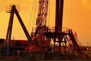 piattaforma petrolifera foto