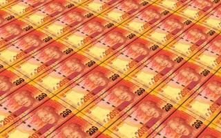 bollette sudafricane impila sfondo. foto