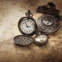 orologi da tasca antichi vintage foto