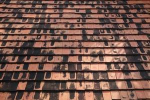 tegole in terracotta foto