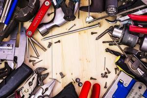 telaio di strumenti idraulici foto