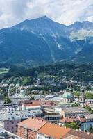 vista generale di innsbruck in austria occidentale.